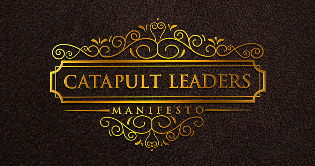 Catapult Leaders Manifesto crest dark