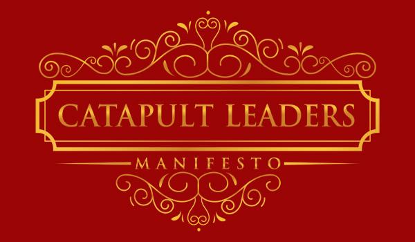 Catapult Leaders Manifesto red