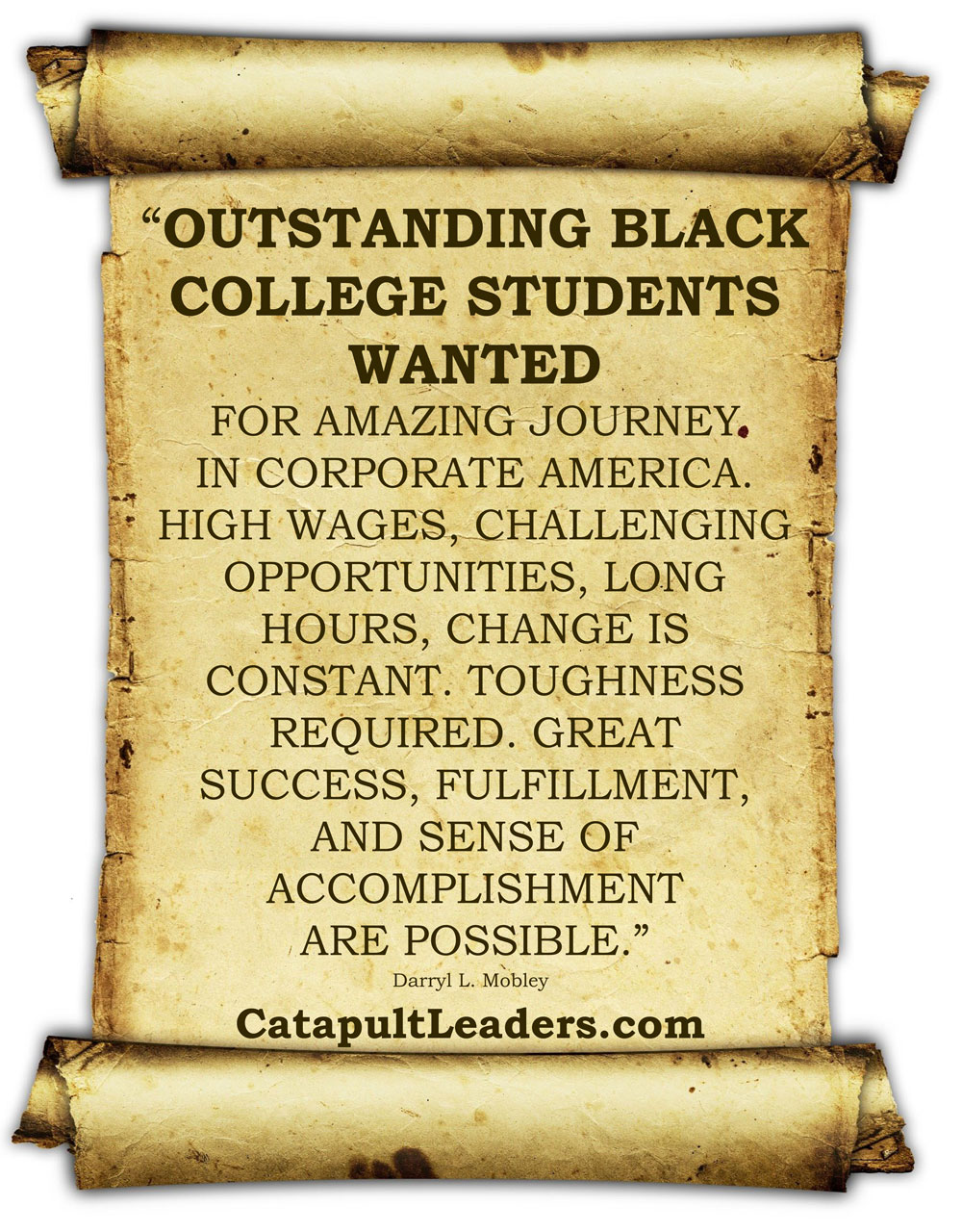 Outstanding Black Students Ad