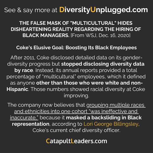 Diversity Unplugged WSJ Coca-Cola Multicultural Mask