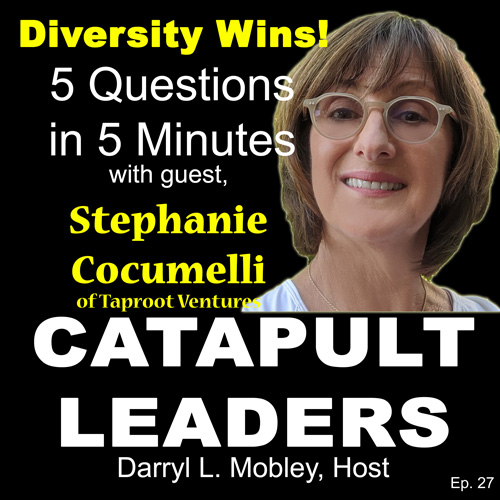 5 Questions 5 Minutes podcast Stephanie Cocumelli