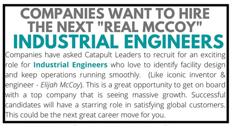Industrial Engineering JOBS - banner Internships & Co-ops
