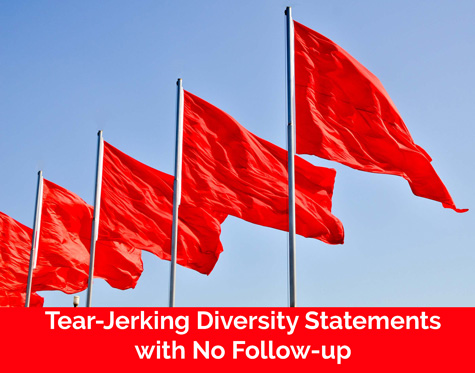 red flag - tear jerking diversity statement - catapult leaders