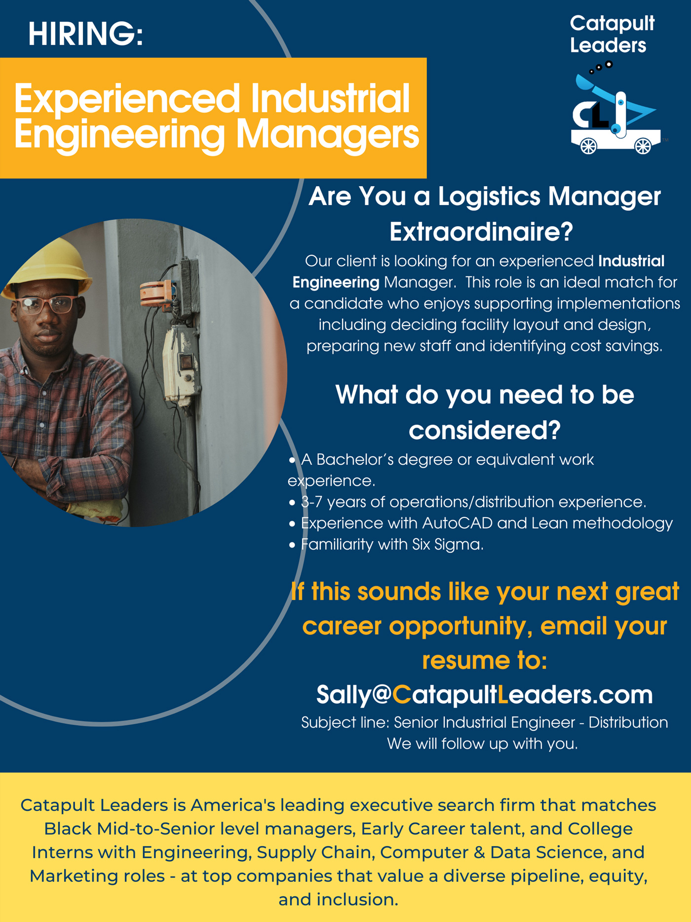 industrial engineering manager - catapult leaders
