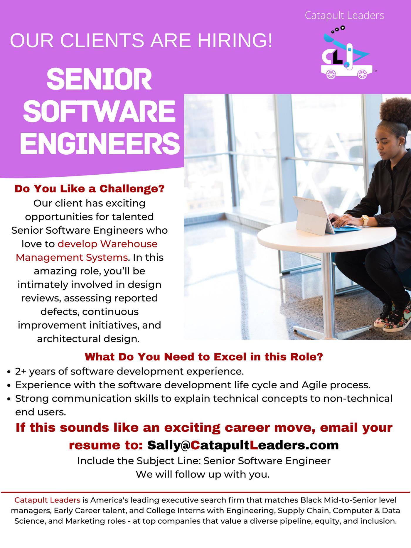 Senior Software Engineer Jobs - Catapult Leaders