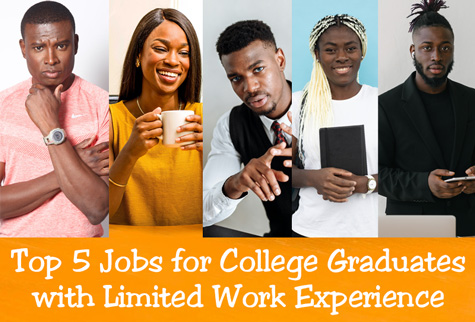 top 5 jobs for college graduates with little experience - catapult leaders
